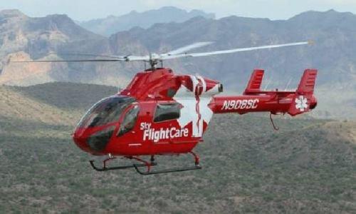 helicóptero ambulancia