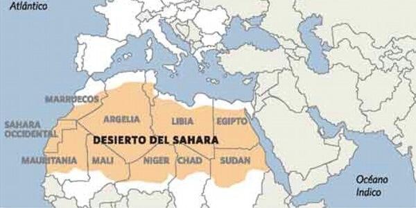 Cuál es el desierto más grande del mundo - Desierto del sahara mapa físico