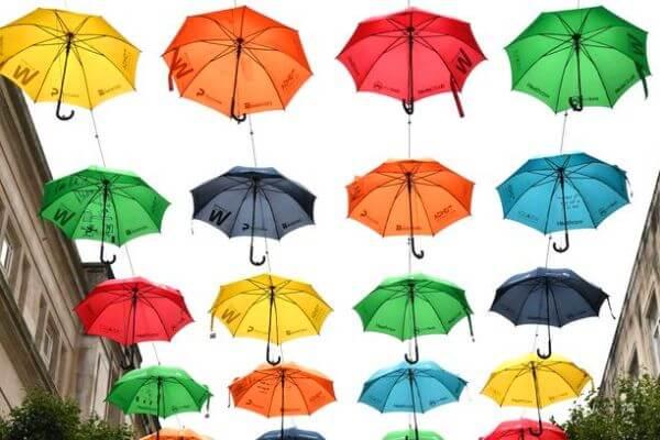 cómo se hace un paraguas
