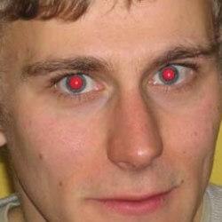 El efecto de ojos rojos