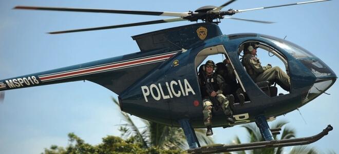 helicóptero empleado por la policía