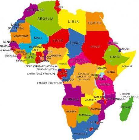 Mapa continente África