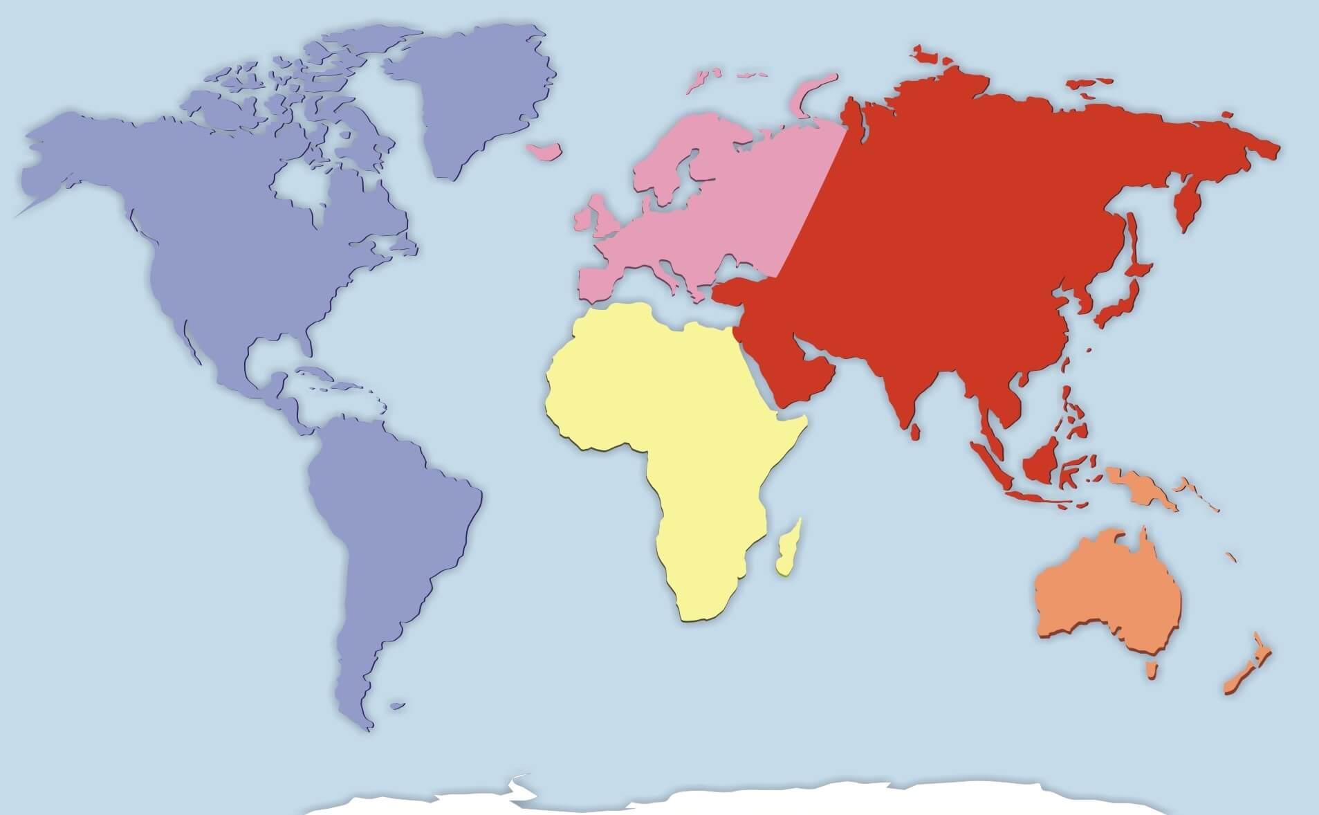 Los continentes son