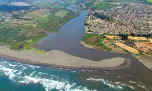desembocadura de un río curso bajo