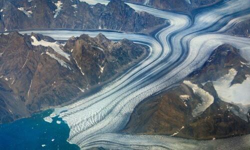 movimiento de un glaciar