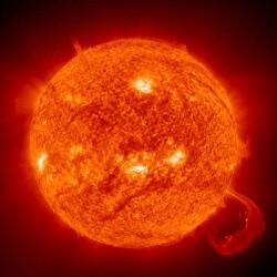protuberancias y manchas solares