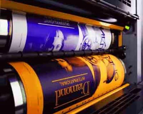 preparación planchas rotativa prensa