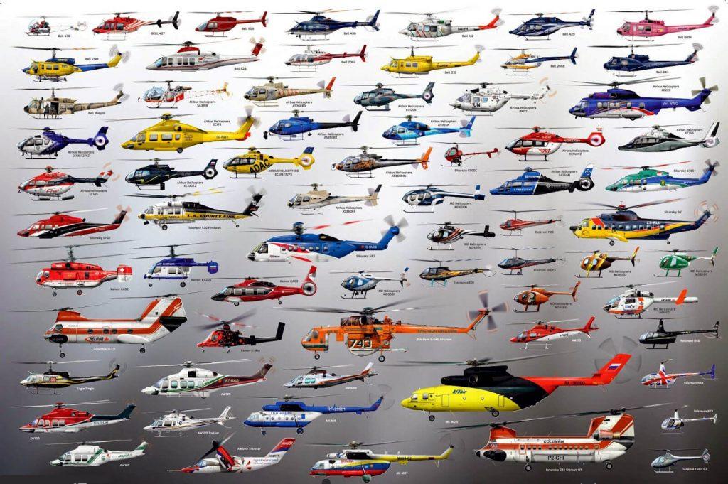 formas y tamaños helicópteros