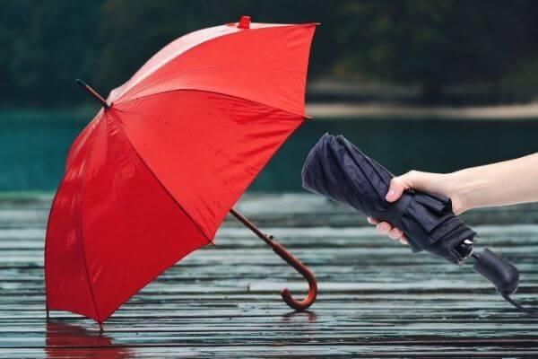 Fabricación de paraguas