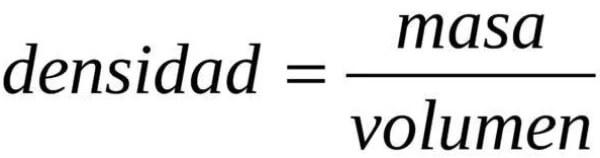 fórmula para calcular la densidad de un cuerpo