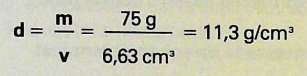 cómo se calcula la densidad de una sustancia