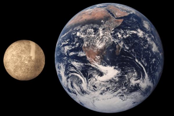 cuánto mide Mercurio